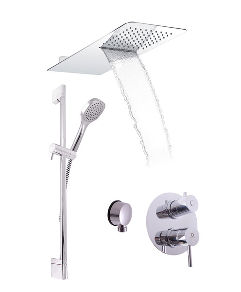 Shower sets with concealed faucet