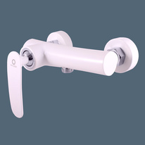 TIGRIS Shower lever mixer, white