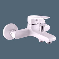 Bath lever mixer COLORADO WHITE/CHROME