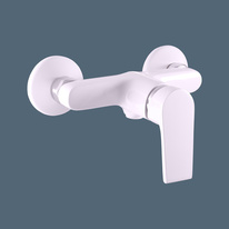 Shower lever mixer COLORADO WHITE/CHROME