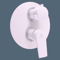 Built-in shower lever mixer white/chrome COLORADO