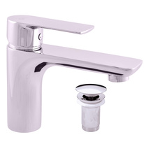 Basin lever mixer with pop-up waste VLTAVA